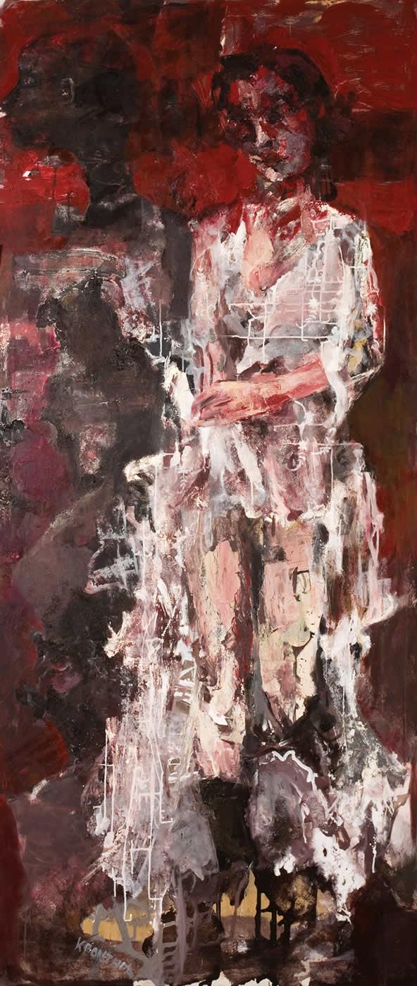 άγγελοι Η Νύφη 2006, λάδι σε καμβά, 225χ100εκ. Agathi Kartalos- Ιδιωτική συλλογή