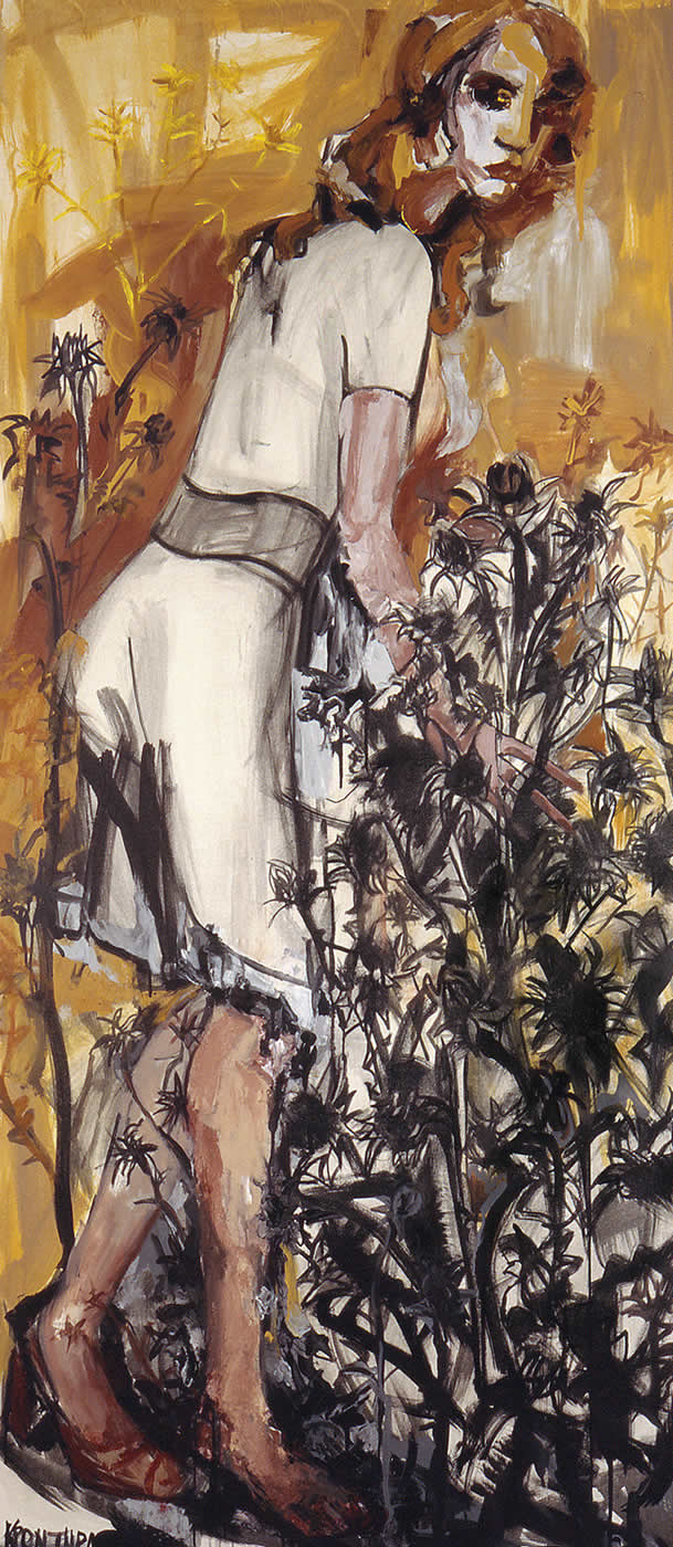 άγγελοι Ο κήπος 2006, λάδι σε καμβά, 225χ100εκ. Agathi Kartalos-Ιδιωτική συλογή