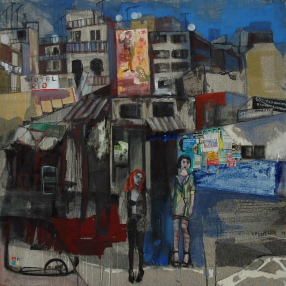 urban Twilight 2009, oil on canvas,110 x 110 cm.Private collection