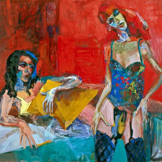 πορτρέτα Two Friends 2003, λάδι σε καμβά 180 x 170 εκ. Γυναίκες Agathi Kartalos- Iδιωτική συλλογή
