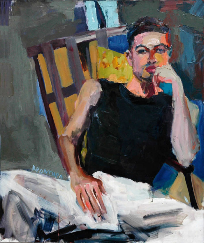 portraits John 2002 , oil on canvas120 x 80 cm. Private collection
