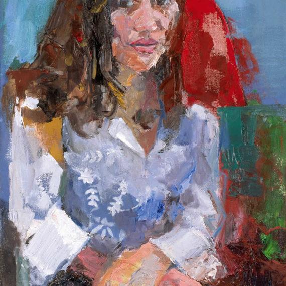πορτρέτα Η Εβελίνα 2003, λάδι σε καμβά 60 x 40 εκ.Γυναίκες Agathi Kartalos