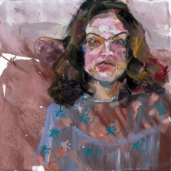 πορτρέτα H Ασπασία 2003, λάδι σε καμβά 60 x 60 εκ. Γυναίκες Agathi Kartalos