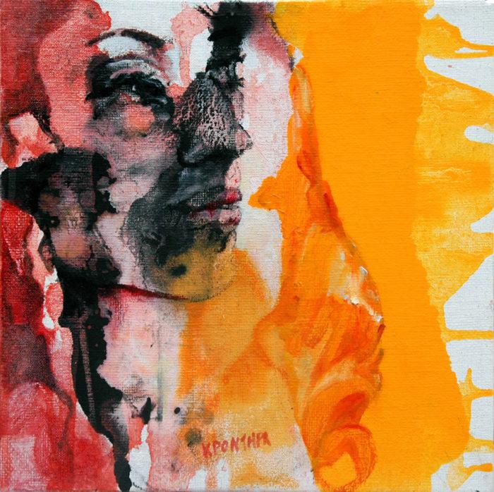πορτρέτα Christine 2014 λάδι σε καμβά, 30χ30εκ. Ιδιωτική συλλογή