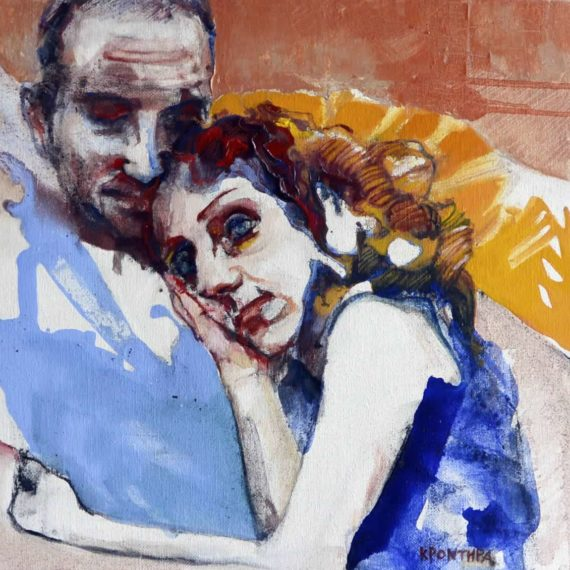 portraits Fiona and Ilias 2014 ,oil on canvas, 60χ70 cm. Moshandreou collection.