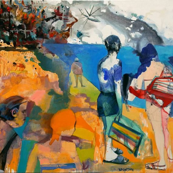 by the sea A Very Hot Summer 2010, oil on canvas, 110 x 140 cm. Private collection.