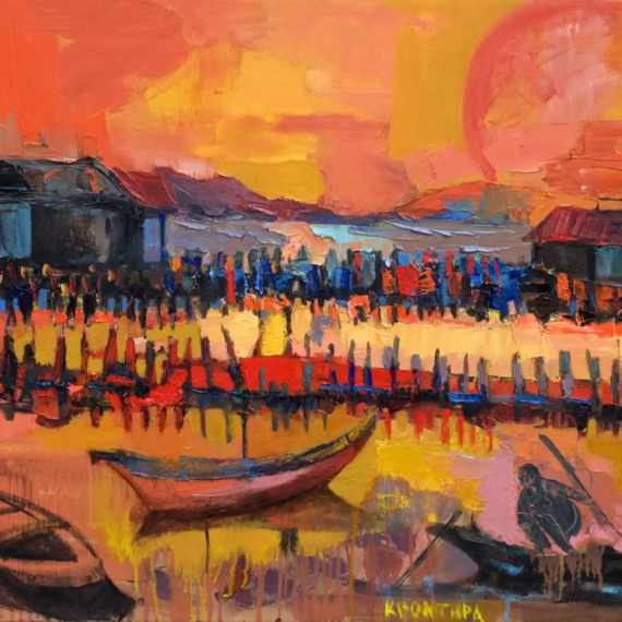 by the sea Lagoon 5 2009, oil on canvas, 60 x 95 cm. Private collection.
